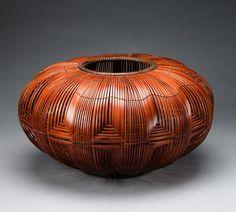Flower arranging basket (hanakago) by Higashi Takesonosai (Japanese) | Bamboo and rattan