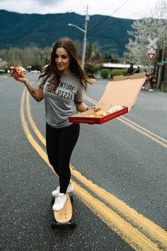 Adventure Then Pizza Unisex Tee