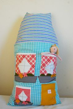 How cute, a dollhouse pillow! I could totally make this. :)