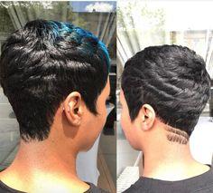 Short Haircuts: Flawless cut via blackhairinformat - Black Haircut Styles Chic Short Hair, Short Choppy Hair, Short Sassy Hair, Short Pixie Haircuts, Cute Hairstyles For Short Hair, Short Hair Cuts, Curly Hair Styles, Pixie Cuts, Sassy Haircuts