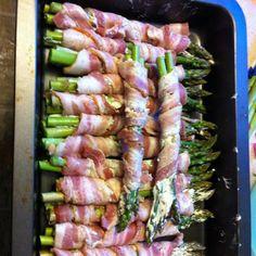 bacon wraped cream cheese aspargus