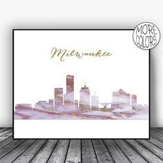 Milwaukee Skyline, Milwaukee Print, Milwaukee Wisconsin, Office Decor, City Skyline Prints, Skyline Art, Cityscape Art, ArtPrintsZoe #OfficeDecoration #CityscapeArt #SkylineArt #MilwaukeePrint #OfficeDecor #MilwaukeeWisconsin #CitySkylineArt #ArtPrint #MilwaukeeSkyline #CitySkylinePrints