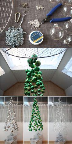 Árbol de navidad colgante - notmartha.org