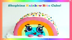 Shopkins Rainbow Bite Cake | How to Make from Creative Cakes by Sharon