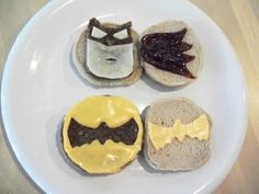 Batman burger ideas - create fun shapes out of your meat #superheroes #birthday #party