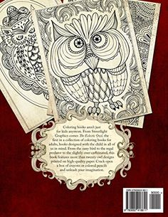 Amazon.com  The Eclectic Owl  An Adult Coloring Book (Eclectic Coloring  Books) (Volume 1) (9780692418611)  G. T. Haddix  Books. KifestőkönyvBaglyok  ... 04098ec810