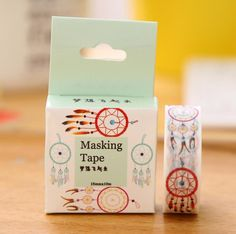 JH104  1.5cm Wide Let Dreams Fly Washi Tape Adhesive Tape DIY Scrapbooking…