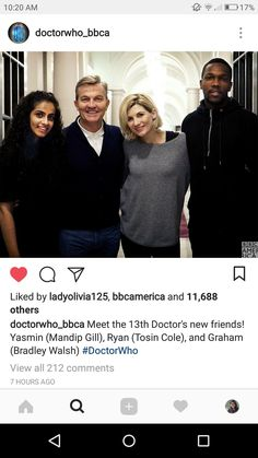 Meet the 13th Doctor's companions! #doctorwho