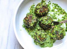 "lentil ""meatballs"" with lemon pesto | Marin Mama Cooks"