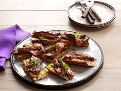 Flank Steak With Balsamic Barbecue Sauce recipe from Bobby Flay via Food Network