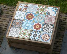 Mozaiek cementtegel tafel