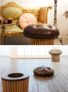 cupcake ottoman but I would like mine to be pink with sprinkles on top!