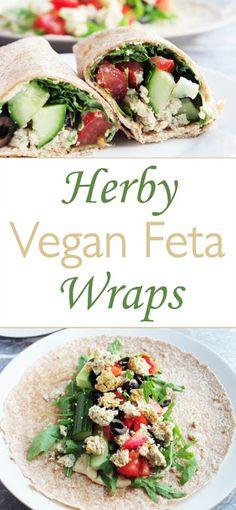Herby Vegan Feta Wraps |Euphoric Vegan