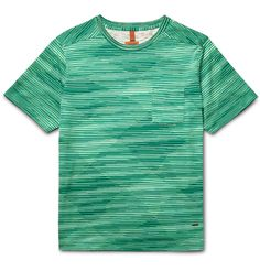 Bolster your casual roster with <a href='http://www.mrporter.com/mens/Designers/Missoni'>Missoni</a>'s relaxed-fit T-shirt. Made from soft cotton, this noteworthy basic is knitted with green, white, ecru and midnight-blue threads that create an eye-catching geometric pattern. Wear it with dark trousers and sandals.