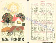 1964 - 1964_0161 - Régi magyar kártyanaptárak Pocket Calendar, Playing Cards, Retro, Words, Pockets, Pocket Diary, Playing Card Games, Retro Illustration, Game Cards
