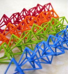 Pyramid Earrings - designerica on etsy