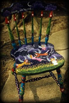 Hand Painted Chairs by Reincarnations | Reincarnations.com