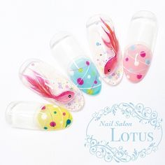 ネイル 画像 Nail Salon Lotus 大曽根 1602166 Cute Gel Nails, New Year's Nails, Mani Pedi, Manicure, Builder Gel Nails, Kawaii Nail Art, Nail Summer, Animal Nail Art, Garra