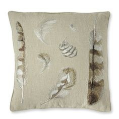 Embroidered Feather Pillow Cover – Williams Sonoma