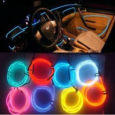 Car Interior Decor Red LED Lamp Wire Luminescent Tube Ambient Light Strip for sale Interior Led Lights, Car Interior Decor, Interior Office, Bmw Interior, Mustang Interior, Interior Design, Interior Painting, Luxury Interior, Future Car