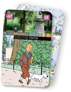 Tintin inspired Brussels transport bus or rail ticket pass • Tintin, Herge j'aime