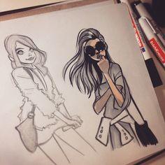 Anna Cattish @anna_cattish #sketching #gir...Instagram photo | Websta (Webstagram)