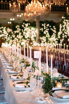 Greenery wedding table decor: Photography: Jana Williams - http://jana-williams.com/
