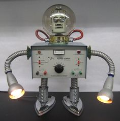 "https://flic.kr/p/7f56Wd | Phillips | Phillips is all set for some deep sea diving...or a stroll through space. Well, he's brought the lights, anyway. 19"" tall.  For sale at Heaven's To Betsy on Wellington St. in Ottawa. Great boutique."