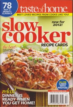 Taste of Home Slow Cooker Recipe Cards Magazine « Library User Group