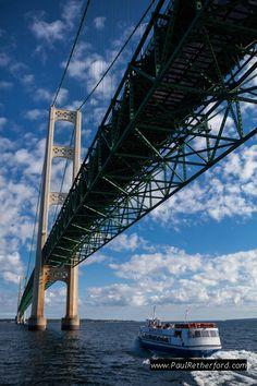 Sheplers Mackinac Island ferry bridge tour Mackinaw City St. Ignace Michigan Photography