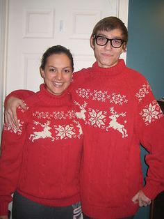 His and Hers matching Christmas Sweaters