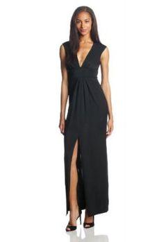 BCBGMAXAZRIA-Womens-Kiera-V-Neck-Evening-Dress-0