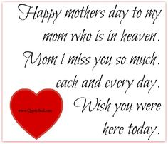 mothers day quotes for moms in heaven