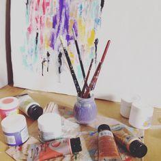 #workingarea #abstract #art #painting #acrylic