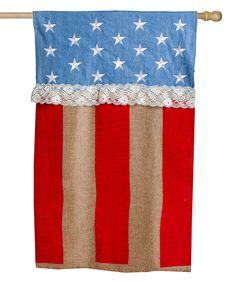 Patriotic Stars & Stripes Outdoor Flag