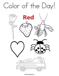 red coloring pages for preschool - photo#25