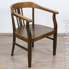 alter Stuhl Eiche 30er 40er Jahre Umfeld Wiener Werkstätten Josef Hoffmann, alt