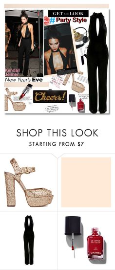 """NYE Party Style: Kendall Jenner"" by chocolate-addicted-angel ❤ liked on Polyvore featuring Nico, KAROLINA, Steve Madden, Topshop, Chanel and Edie Parker"