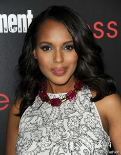 Hairstyles of Kerry Washington 2014-2015 | Moda 2014-2015