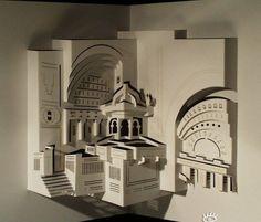 maravilhoso trabalho em 3d feito de papel - 2