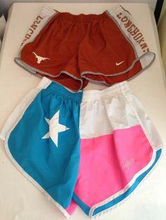 Lot of 2  - NIKE DRI FIT TEXAS LONGHORNS FLAG tempo shorts Women's Medium M #texas