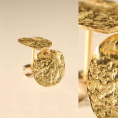 Large flattened nuggets in 18ct yellow gold - E606
