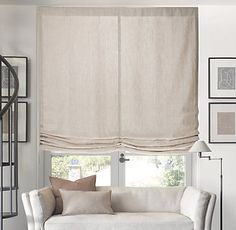 Opaque Relaxed Roman Shade at Calistoga Window Coverings, Window Treatments, Blinds For Windows, Window Blinds, Relaxed Roman Shade, Bathroom Wall Cabinets, Custom Drapes, Hollywood Regency, Drapes Curtains