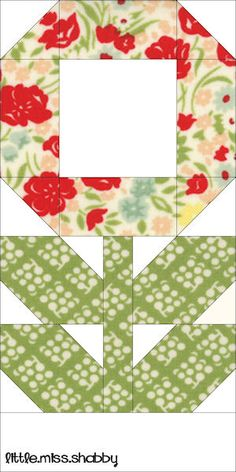 Posies Quilt Block...do a whole quilt!