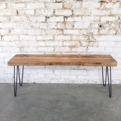 Mid Century Reclaimed Bench with Hairpin Legs