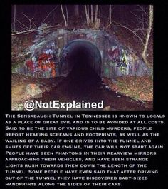 The Sensabaugh Tunnel in Kingsport, Tennessee.