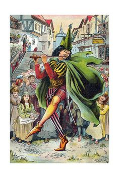 The Pied Piper Leading Away the Children of Hamelin, C1899 Giclee Print at AllPosters.com