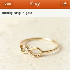 Infinity ring from etsy only $15  I want in silver