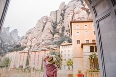 Admiring the mountains of Montserrat, Spain