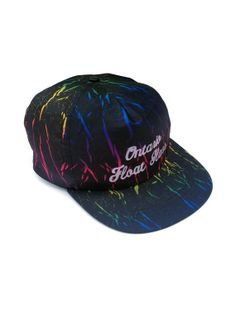 9ed3c0b5906 Rad 80s Neon Rainbow Crackle Ontario Snapback by NeonStockyards